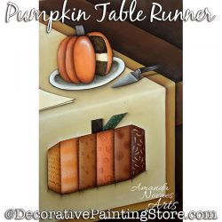 Pumpkin Table Runner Painting Pattern PDF DOWNLOAD - Amanda Novaes
