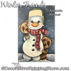 Winter Friends Painting Pattern PDF DOWNLOAD - Amanda Novaes