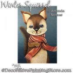 Winter Squirrel Painting Pattern PDF DOWNLOAD - Amanda Novaes