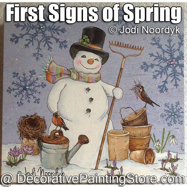 First Signs of Spring ePattern - Jodi Noordyk - PDF DOWNLOAD