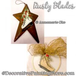 Rusty Blades Ornament (Ice Skate) Pattern PDF DOWNLOAD - Annamarie Oke