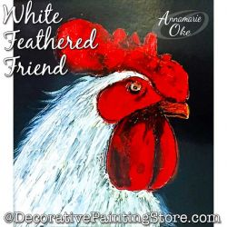 White Feathered Friend Pattern PDF DOWNLOAD - Annamarie Oke