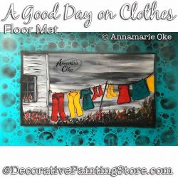 A Good Day on Clothes Floor Mat Pattern PDF DOWNLOAD - Annamarie Oke