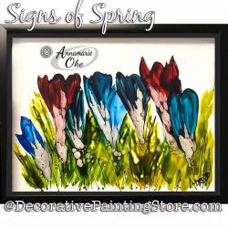 Signs of Spring (Crocus) Glass Painting Pattern PDF DOWNLOAD - Annamarie Oke