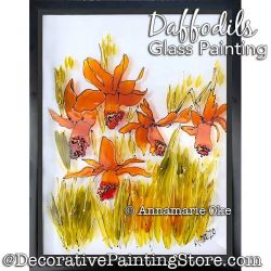 Daffodils Glass Painting Pattern PDF DOWNLOAD - Annamarie Oke