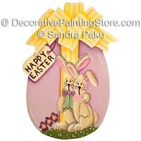 Easter Bunny Couple by Sandra Paku - PDF DOWNLOAD