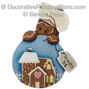 Gingerbread Treats 5 Cents Snowglobe ePattern - Sandra Paku - PDF DOWNLOAD