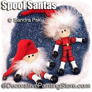 Spool Santas by Sandra Paku - PDF DOWNLOAD