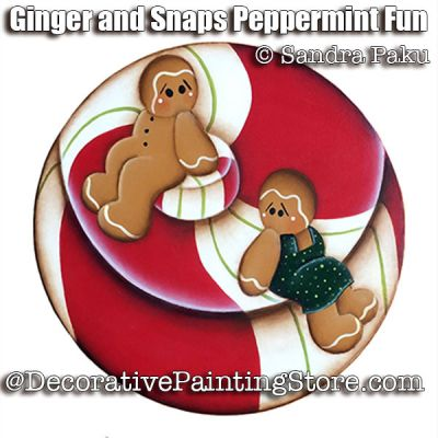 Ginger and Snaps Peppermint Fun e-Pattern - Sandra Paku - PDF DOWNLOAD