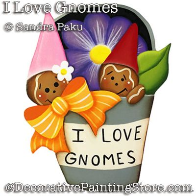 I Love Gnomes e-Pattern - Sandra Paku - PDF DOWNLOAD