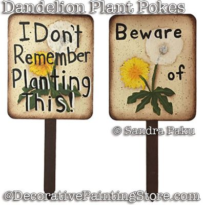 Dandelion Plant Pokes e-Pattern - Sandra Paku - PDF DOWNLOAD
