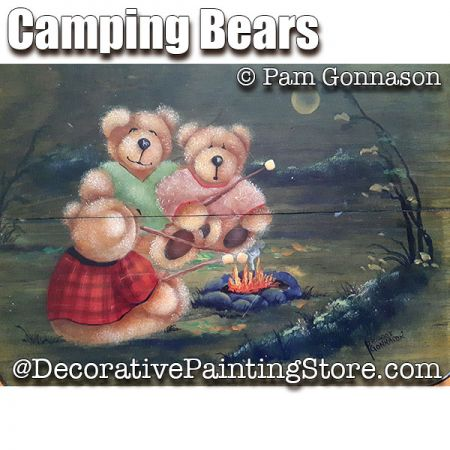 Camping Bears ePattern - Pam Gonnason - PDF DOWNLOAD