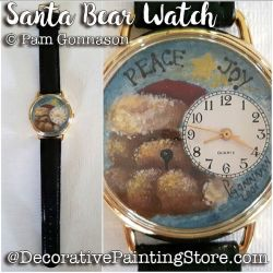 Santa Bear Watch ePattern - Pam Gonnason - PDF DOWNLOAD