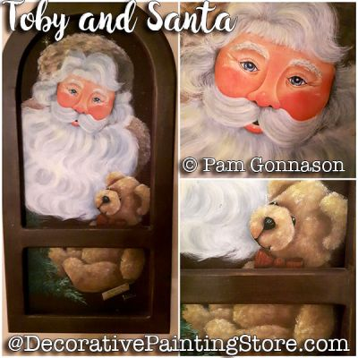 Toby and Santa ePattern - Pam Gonnason - PDF DOWNLOAD