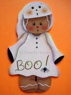 Boo Ghost Gingerbread Witch e-Pattern
