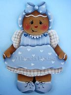 Little Miss Blue Gingerbread Girl e-Pattern