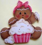 Messy Cupcake Gingerbread Girl e-Pattern
