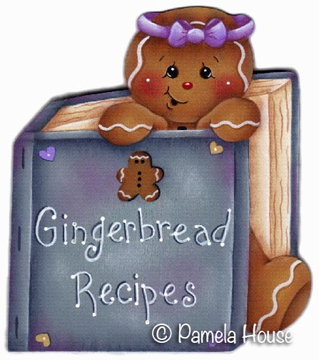 Gingerbread Recipes e-Pattern DOWNLOAD