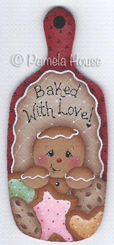 Baked with Love Gingerbread Mini Breadboard e-Pattern DOWNLOAD