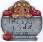 Life is Just a Bowl of Cherries Ginger e-Pattern DOWNLOAD