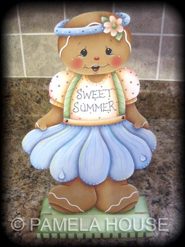 Sweet Summer Ginger Girl Shelf Sitter e-Pattern DOWNLOAD