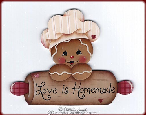 Love is Homemade Ginger Pattern BY DOWNLOAD