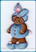 Blue Bunny Ginger Pattern - Pamela House - BY DOWNLOAD