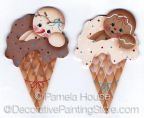 Ice Cream Cones ePattern by Pamela House - PDF DOWNLOAD