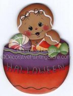 Gingers Halloween Treats Bowl ePattern by Pamela House - PDF DOWNLOAD