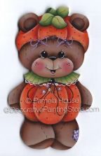 Pumpkin Bear Ornament or Magnet by Pamela House - PDF DOWNLOAD