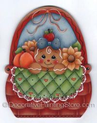Autumn Basket Ornament-Magnet or Wall Hanging by Pamela House - PDF DOWNLOAD