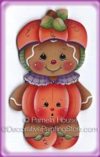 Pumpkin Ginger Ornament or Magnet by Pamela House - PDF DOWNLOAD
