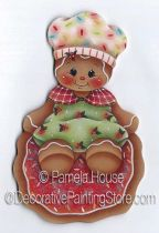 Christmas Cookie Baker Ornament-Magnet by Pamela House - PDF DOWNLOAD