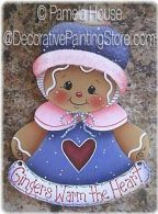 Gingers Warm the Heart Ornament-Magnet by Pamela House - PDF DOWNLOAD