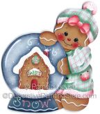 Gingers Snowglobe Ornament-Magnet by Pamela House - PDF DOWNLOAD