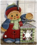 Gingerbread with Snowflake Lantern by Pamela House - PDF DOWNLOAD