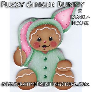 Fuzzy Ginger Bunny by Pamela House - PDF DOWNLOAD