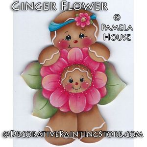 Ginger Flower by Pamela House - PDF DOWNLOAD
