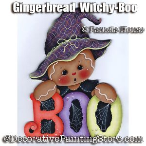 Gingerbread Witchy-Boo by Pamela House - PDF DOWNLOAD