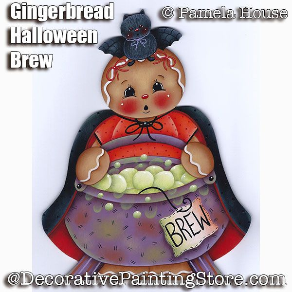 Gingerbread Halloween Brew by Pamela House - PDF DOWNLOAD