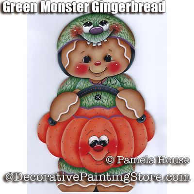 Green Monster Gingerbread by Pamela House - PDF DOWNLOAD