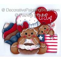 Patriotic Gingerbread and Treats by Pamela House - PDF DOWNLOAD