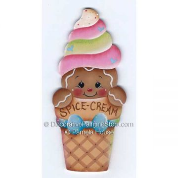 Spice Cream Cone by Pamela House - PDF DOWNLOAD