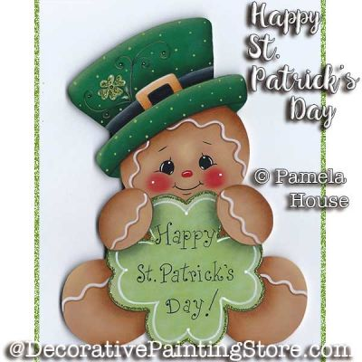 Happy St Patricks Day e-Pattern - Pamela House - PDF DOWNLOAD