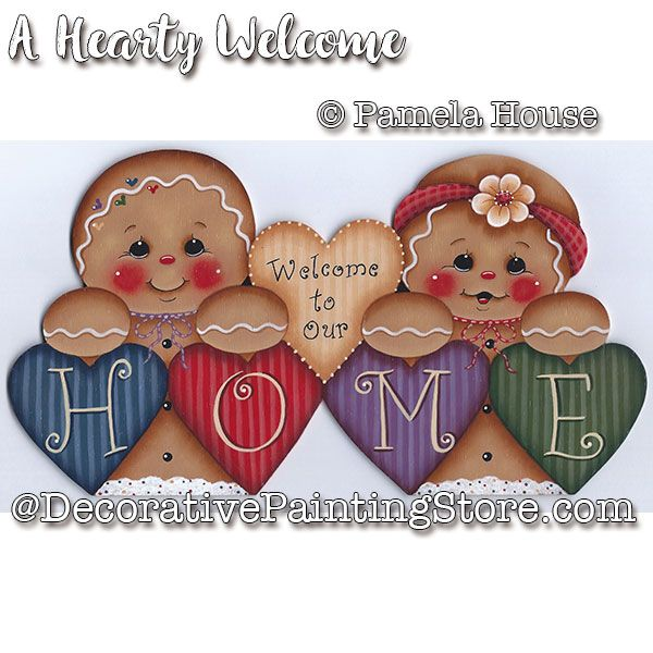 A Hearty Welcome e-Pattern - Pamela House - PDF DOWNLOAD