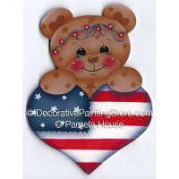 Stars and Stripes Bear by Pamela House - PDF DOWNLOAD
