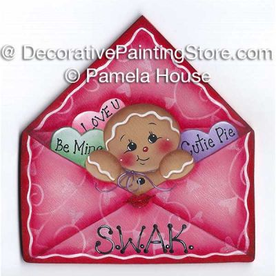 Sweetly Stuffed Valentine Envelope by Pamela House - PDF DOWNLOAD