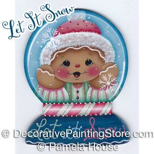 Let It Snow Ginger Snowglobe by Pamela House - PDF DOWNLOAD