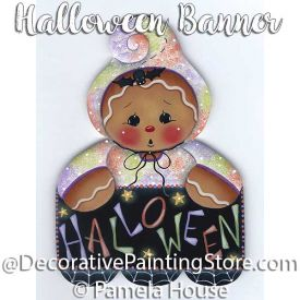 Halloween Banner by Pamela House - PDF DOWNLOAD