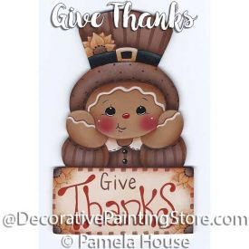 Give Thanks Ginger by Pamela House - PDF DOWNLOAD
